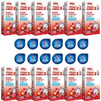 کاندوم ناچ کدکس مدل WARM CHALLENGER مجموعه 12 عددی به همراه کاندوم ناچ کدکس مدل بلیسر بسته 12 عددی