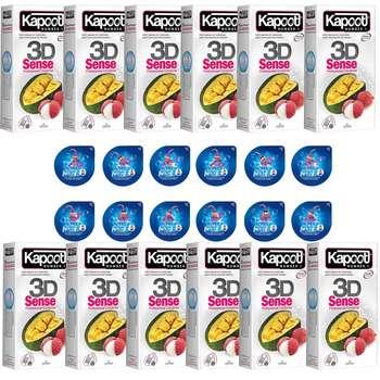 کاندوم ناچ کاپوت مدل 3D SENSE مجموعه 12 عددی به همراه کاندوم ناچ کدکس مدل بلیسر بسته 12 عددی