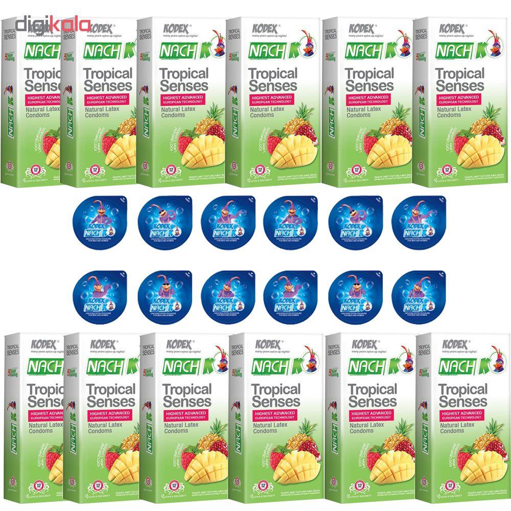 کاندوم ناچ کدکس مدلTROPICAL SENSE مجموعه 12 عددی به همراه کاندوم ناچ کدکس مدل بلیسر بسته 12 عددی main 1 1