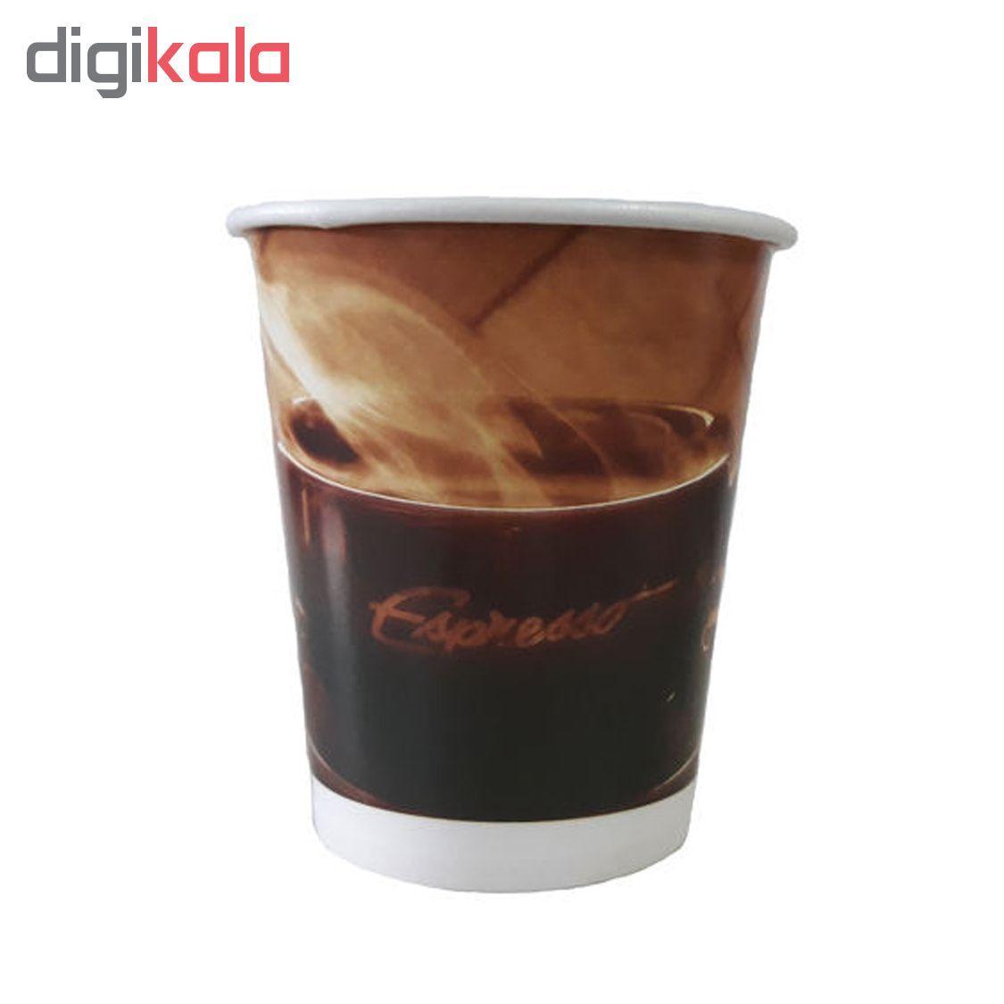 لیوان یکبار مصرف کاغذی الین پلاست مدل KGH2-40 بسته 40 عددی main 1 3