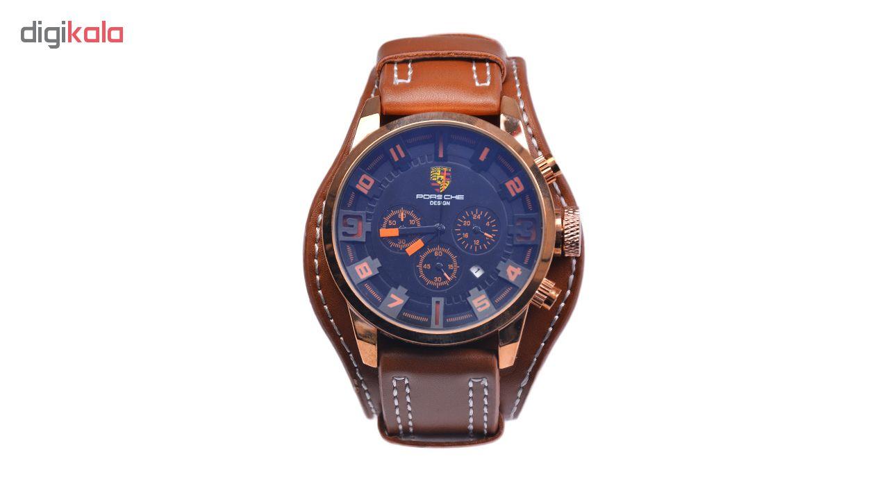 ساعت مچی عقربه ای مردانه کد 3Por-Orange