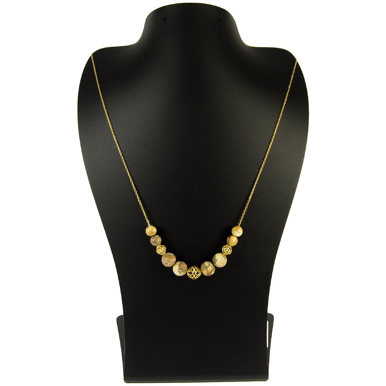 گردنبند طلا ۱۸ عیار زنانه مانچو مدل Sfg625