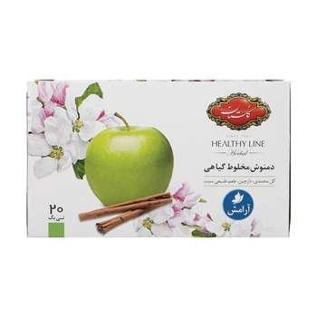 دمنوش مخلوط گیاهی با طعم سیب و دارچین گلستان بسته 20 عددی