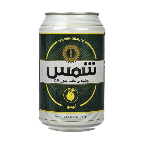 نوشیدنی مالت بدون الکل لیمو شمس مقدار 330 میلی لیتر