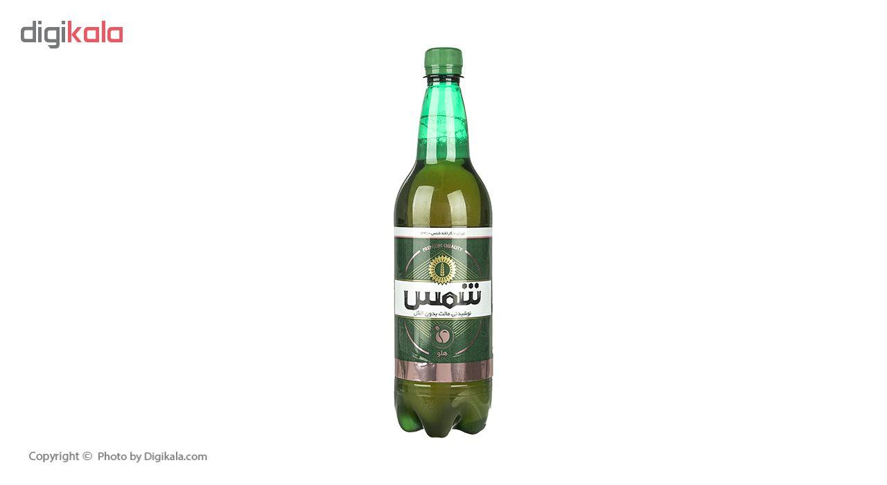 نوشیدنی مالت بدون الکل هلو شمس حجم 1 لیتر