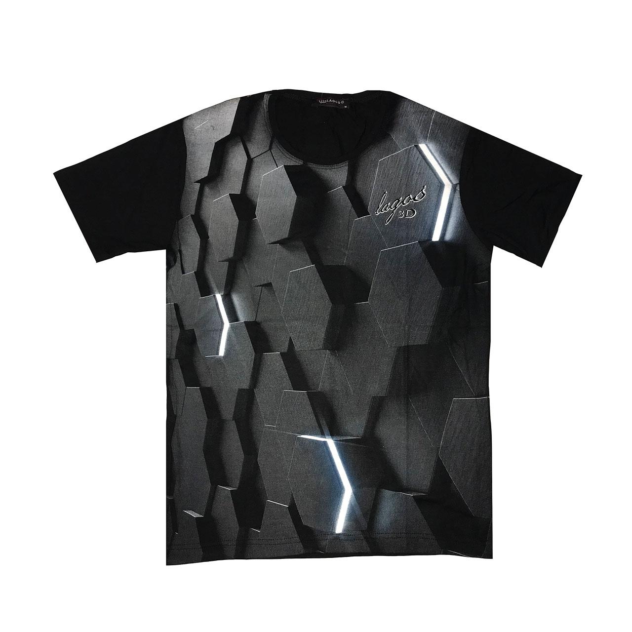 تی شرت آستین کوتاه مردانه مدل ZN002