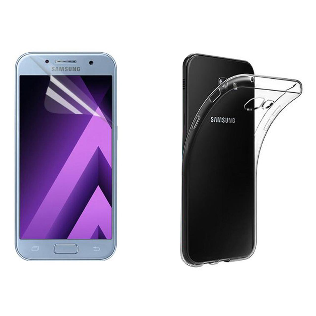 کاور مدل Cl-004 مناسب برای گوشی موبایل سامسونگ Galaxy A3 2017 به همراه محافظ صفحه نمایش hard and thick