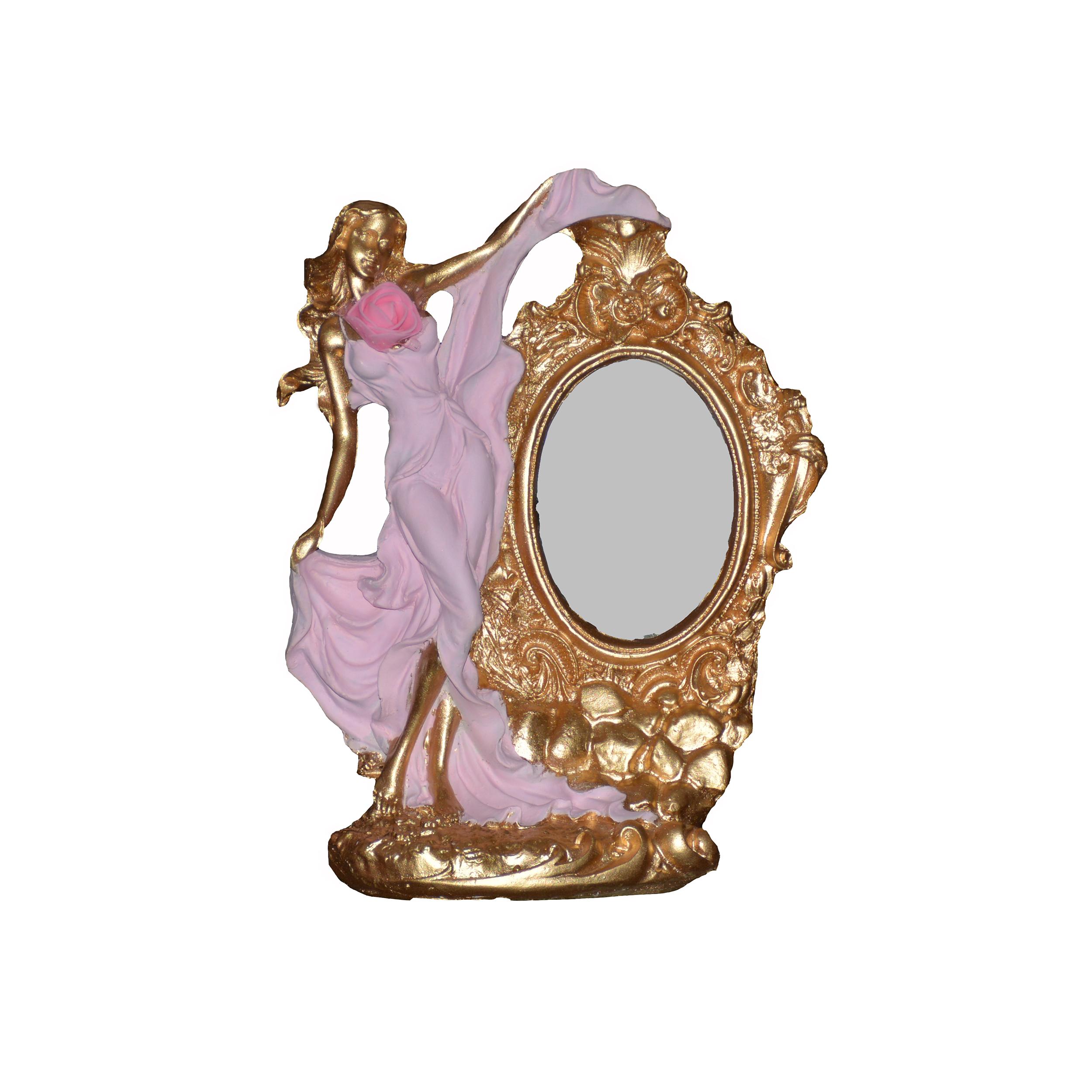 آینه رو میزی طرح شکوفه کد 1000