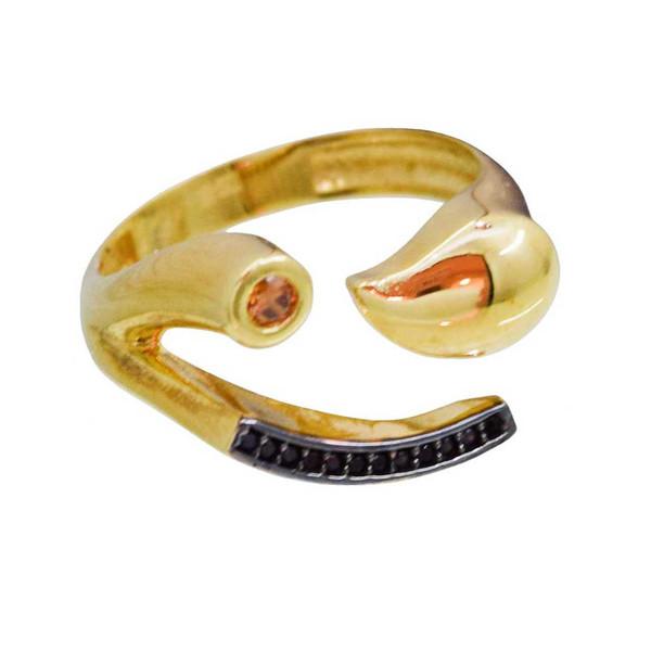 انگشتر طلا 18 عیار کانیار گالری مدل AG71