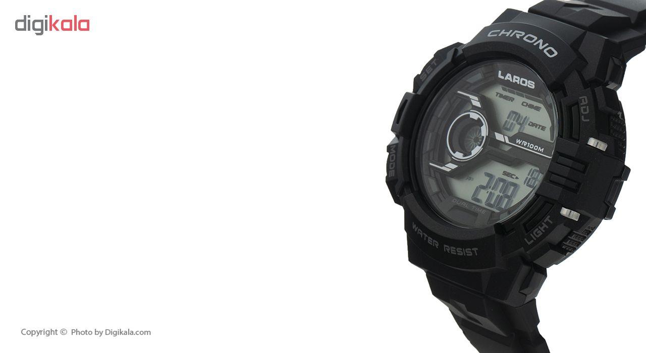 کد تخفیف                                       ساعت مچی دیجیتال مردانه لاروس مدل M1180-1117 به همراه دستمال مخصوص نانو برند کلیر واچ
