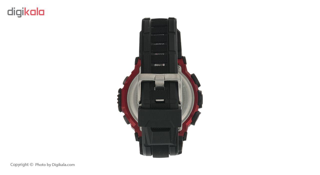 ساعت مچی دیجیتال مردانه لاروس مدل M1173-0318  به همراه دستمال مخصوص نانو برند کلیر واچ