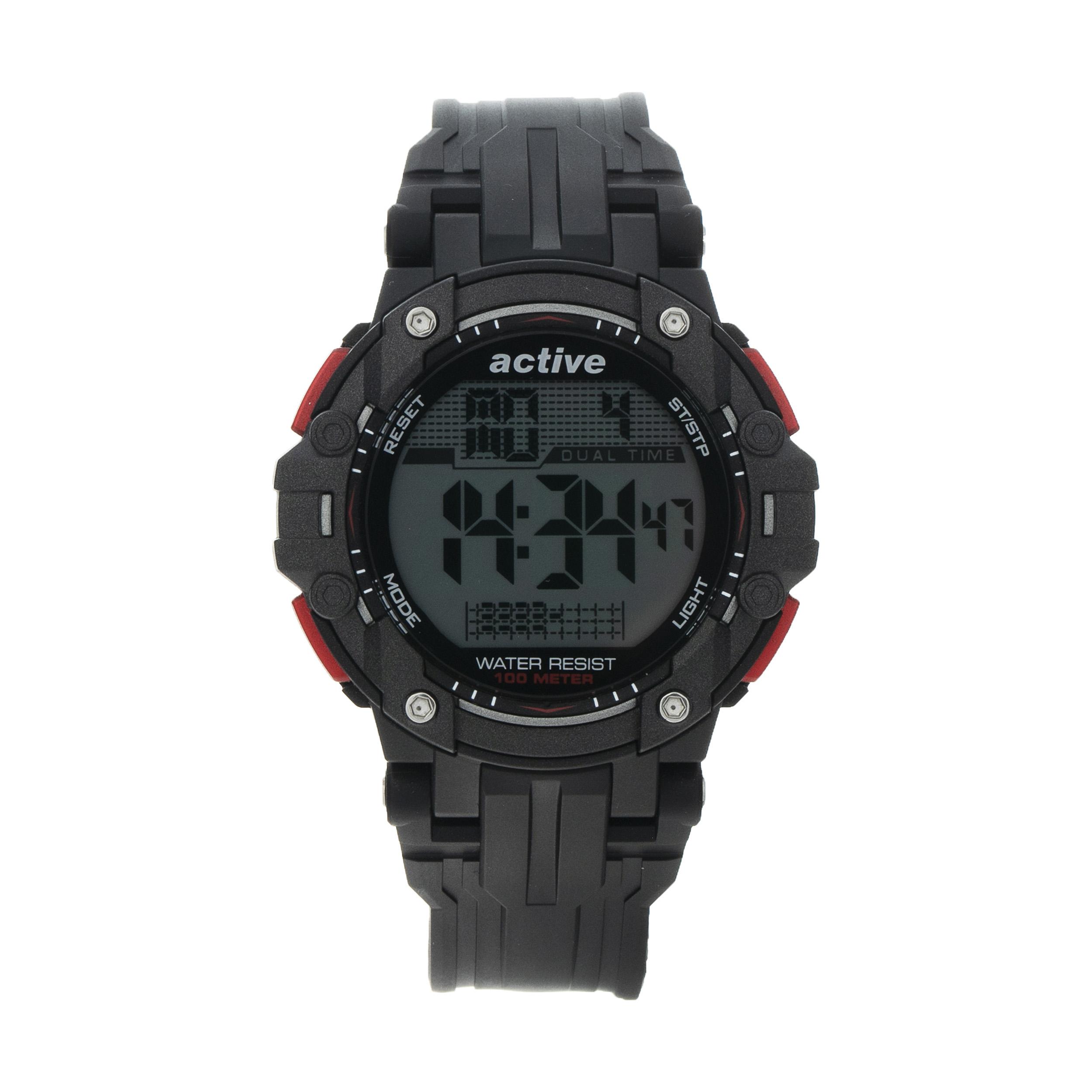 ساعت مچی مردانه اکتیو مدل YP17737 به همراه دستمال مخصوص نانو برند کلیر واچ 35