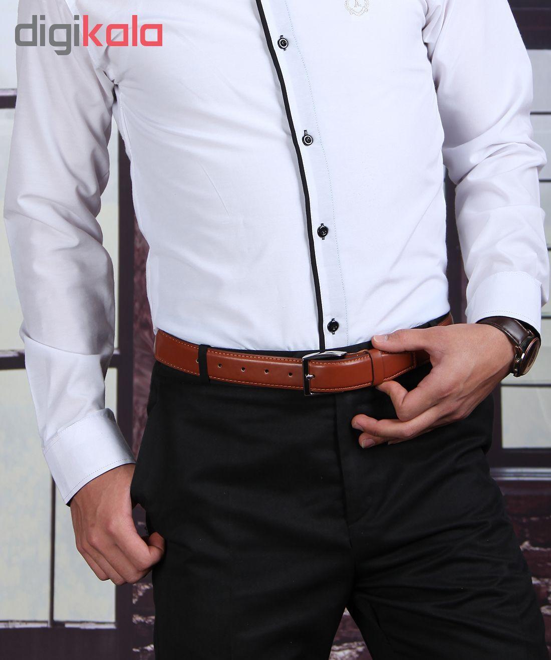 کمربند چرم مردانه گامارو مدل G1025 -  - 6
