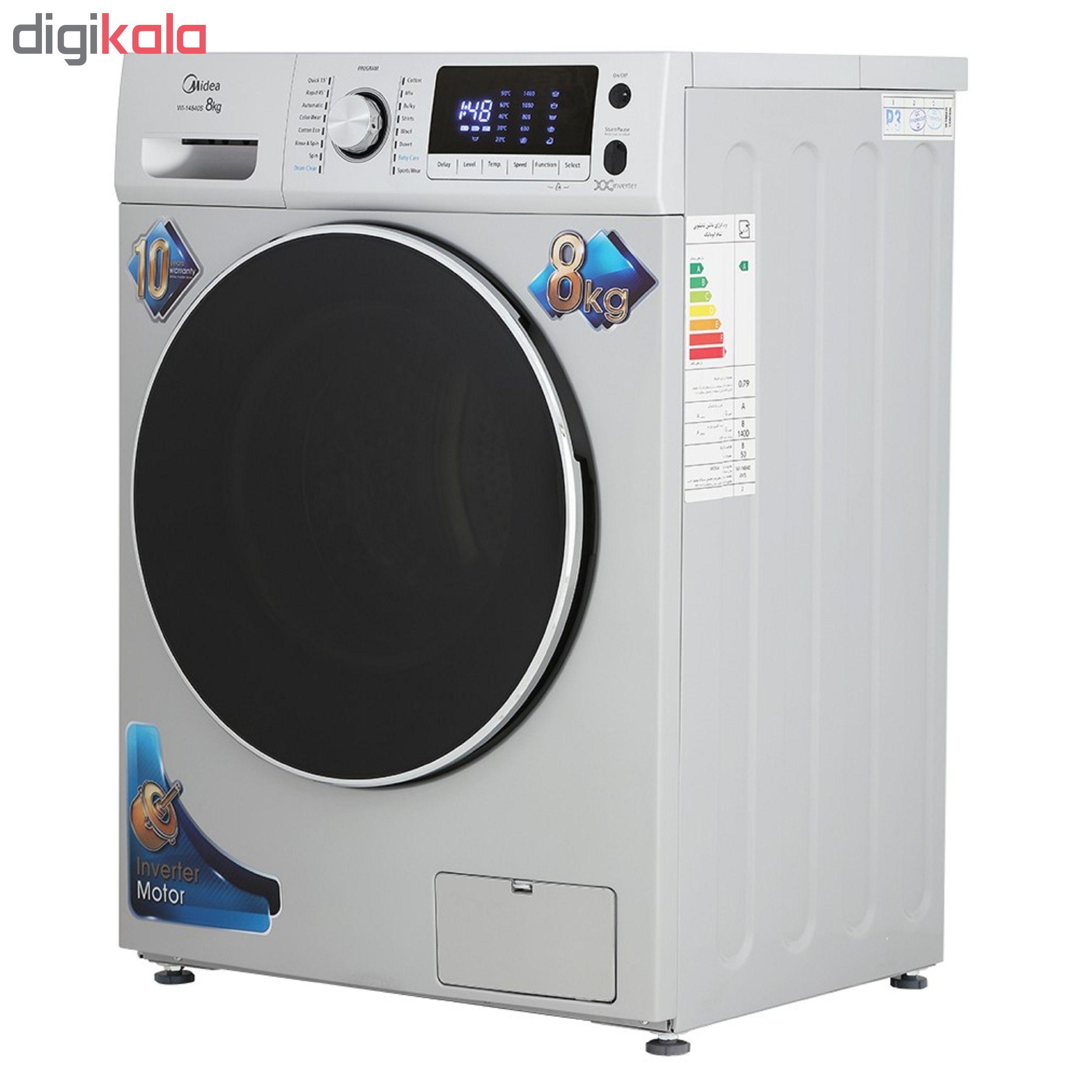 ماشین لباسشویی مایدیا مدل WI-14812 ظرفیت 8 کیلوگرم