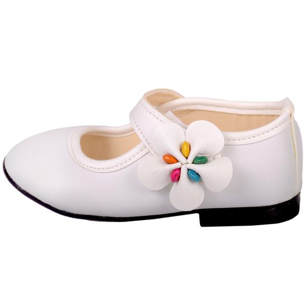 کفش دخترانه نگار مدل 3585 سفید