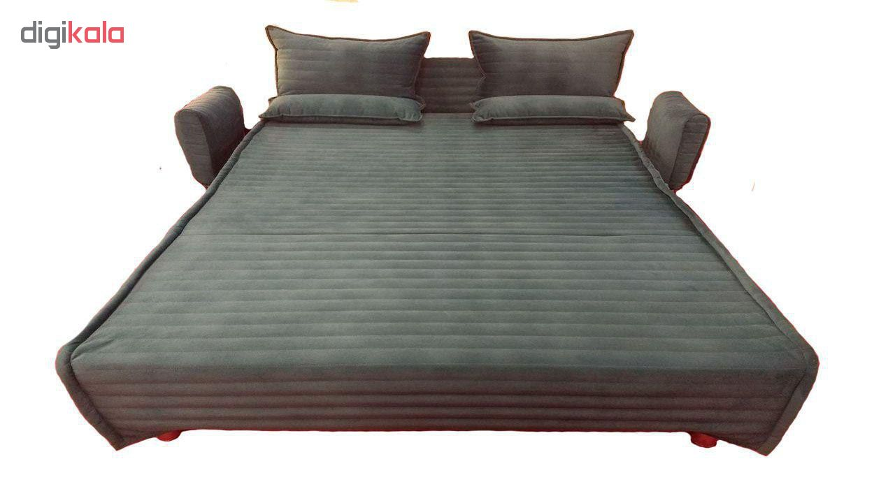 کاناپه مبل تختخواب شو ( تخت خواب شو , تختخوابشو )  دو نفره مطمین البرز دسته متکایی