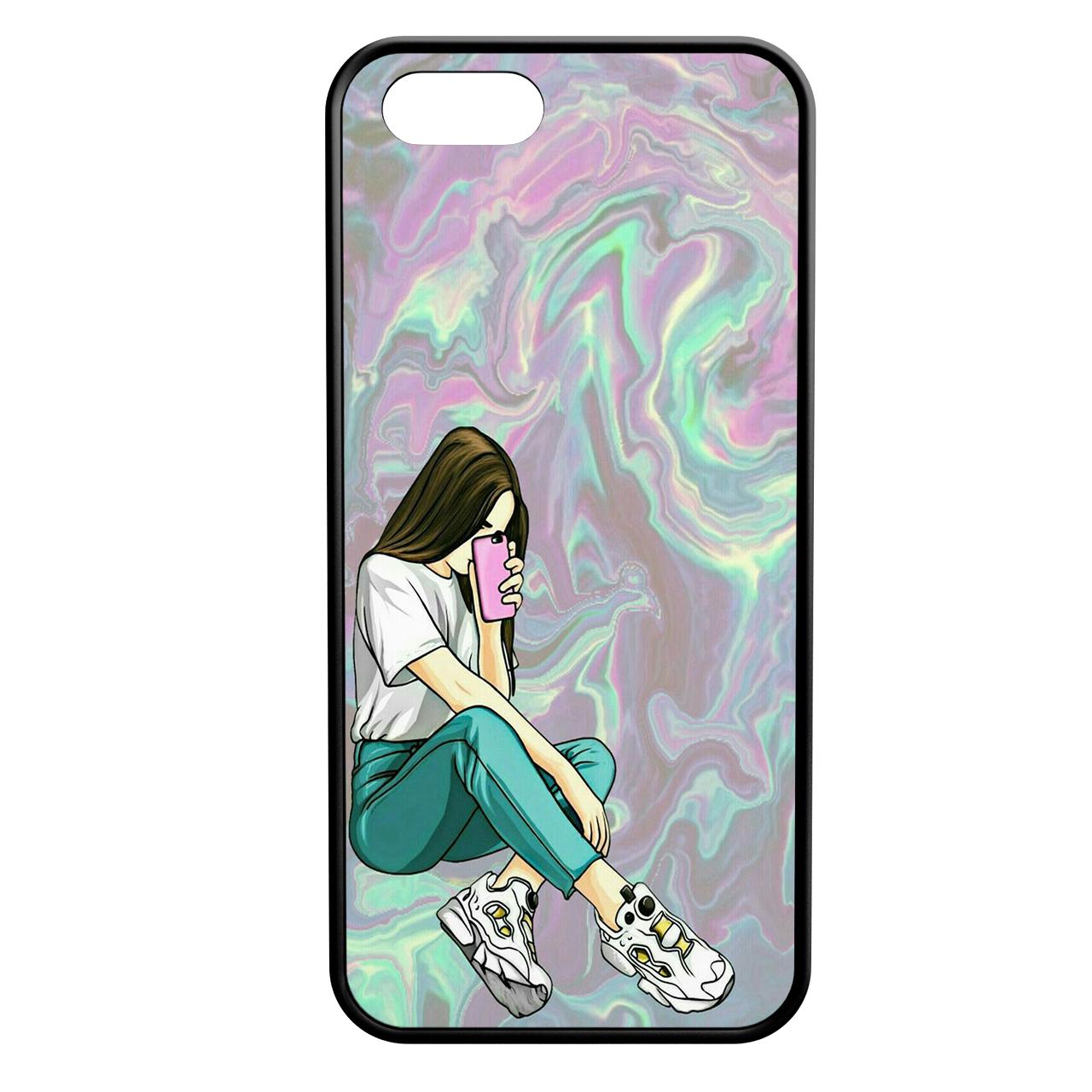کاور طرح دخترانه کد 8930 مناسب برای گوشی موبایل اپل iphone 5/5s/se