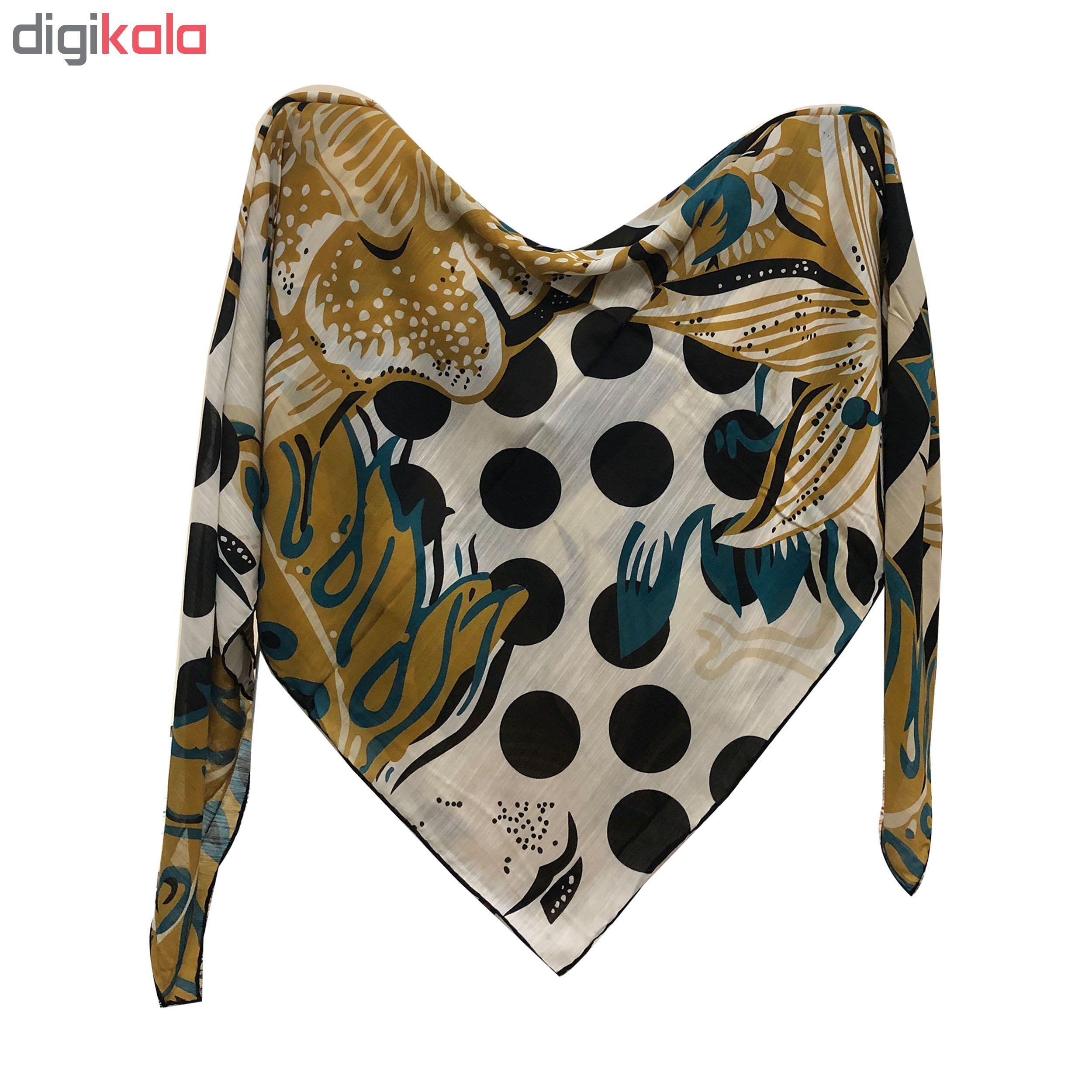 روسری زنانه نخی دور دست دوز کد 405