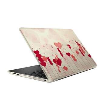 استیکر لپ تاپ طرح قلب و عشق مدل ML095  مناسب برای لپ تاپ 15.6 اینچ
