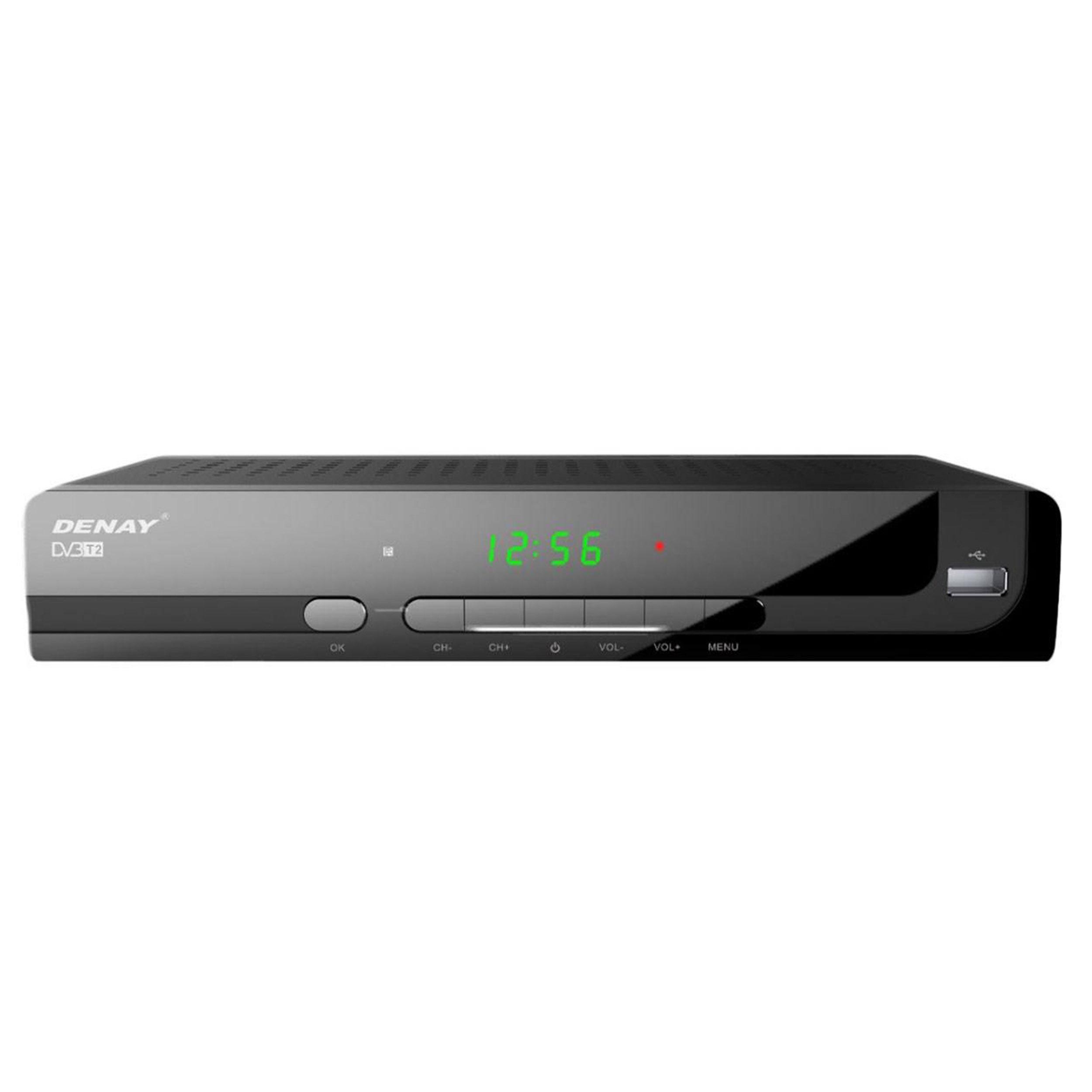 تصویر گیرنده تلویزیون دیجیتال دنای مدل DVB-T STB954T2 به همراه آنتن رومیزی پروویژن DVB-T601