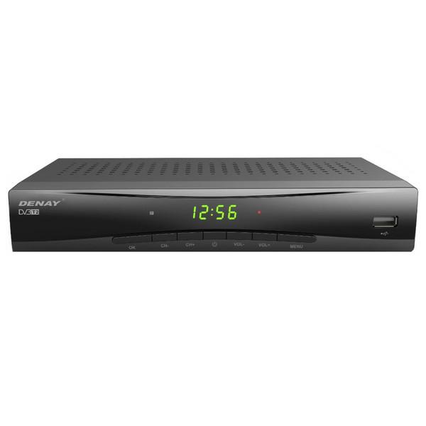 گیرنده تلویزیون دیجیتال دنای مدل DVB-T STB953T2 به همراه آنتن رومیزی پروویژن DVB-T601 هدیه