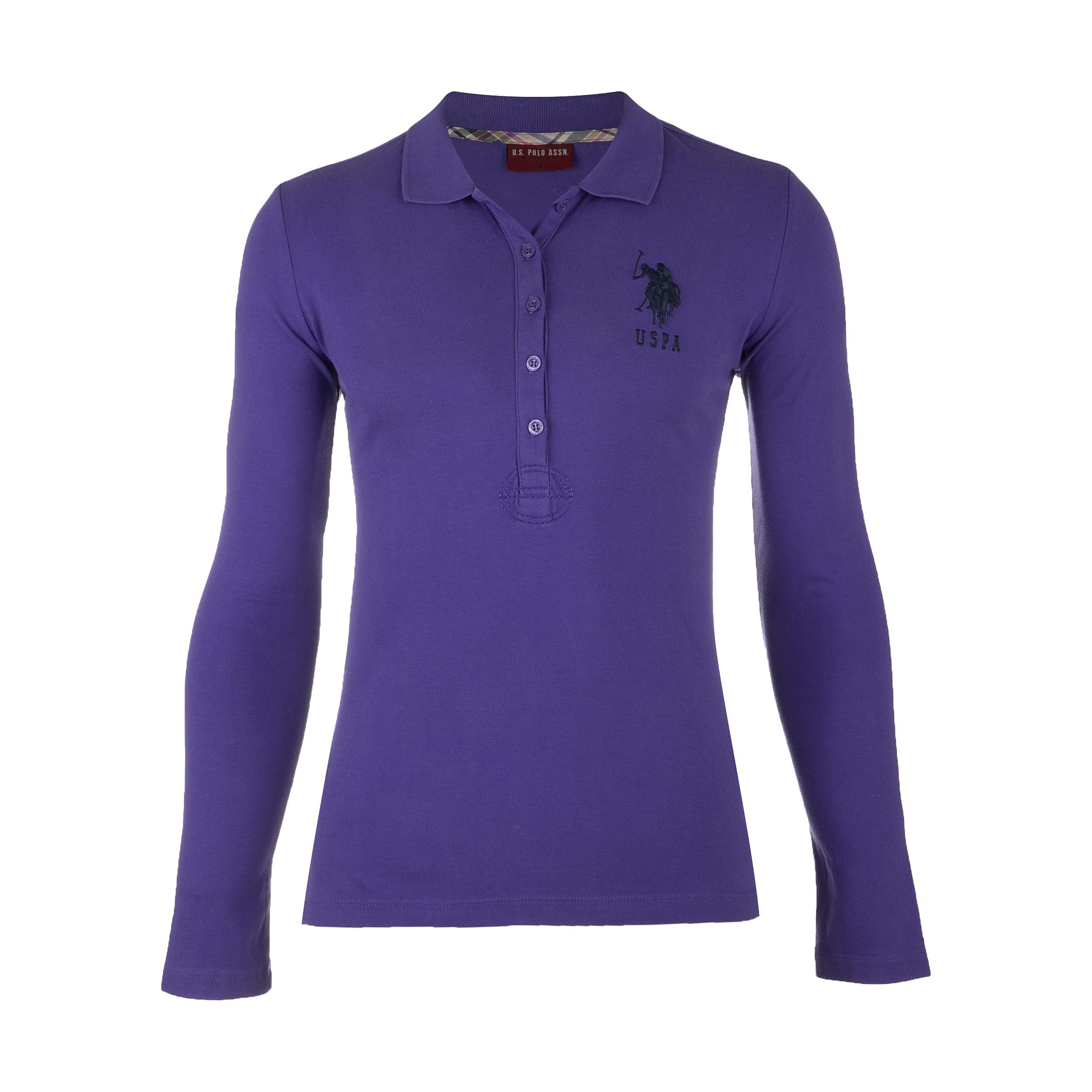 خرید پولو شرت آستین بلند زنانه یو اس پولو مدل 082308