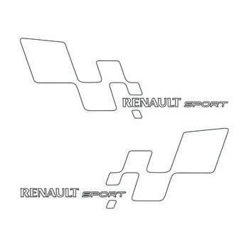 استیکر خودرو طرح رنو کد S239a سایز 10x4 بسته 2 عددی