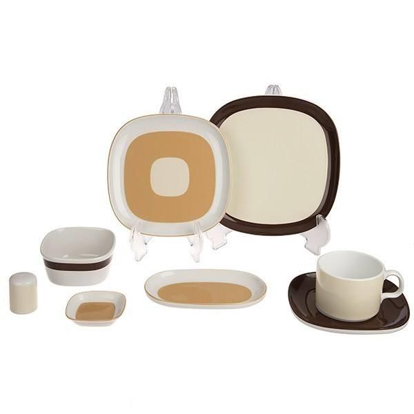سرویس صبحانه خوری 8 پارچه چینی زرین ایران مدل Caramel