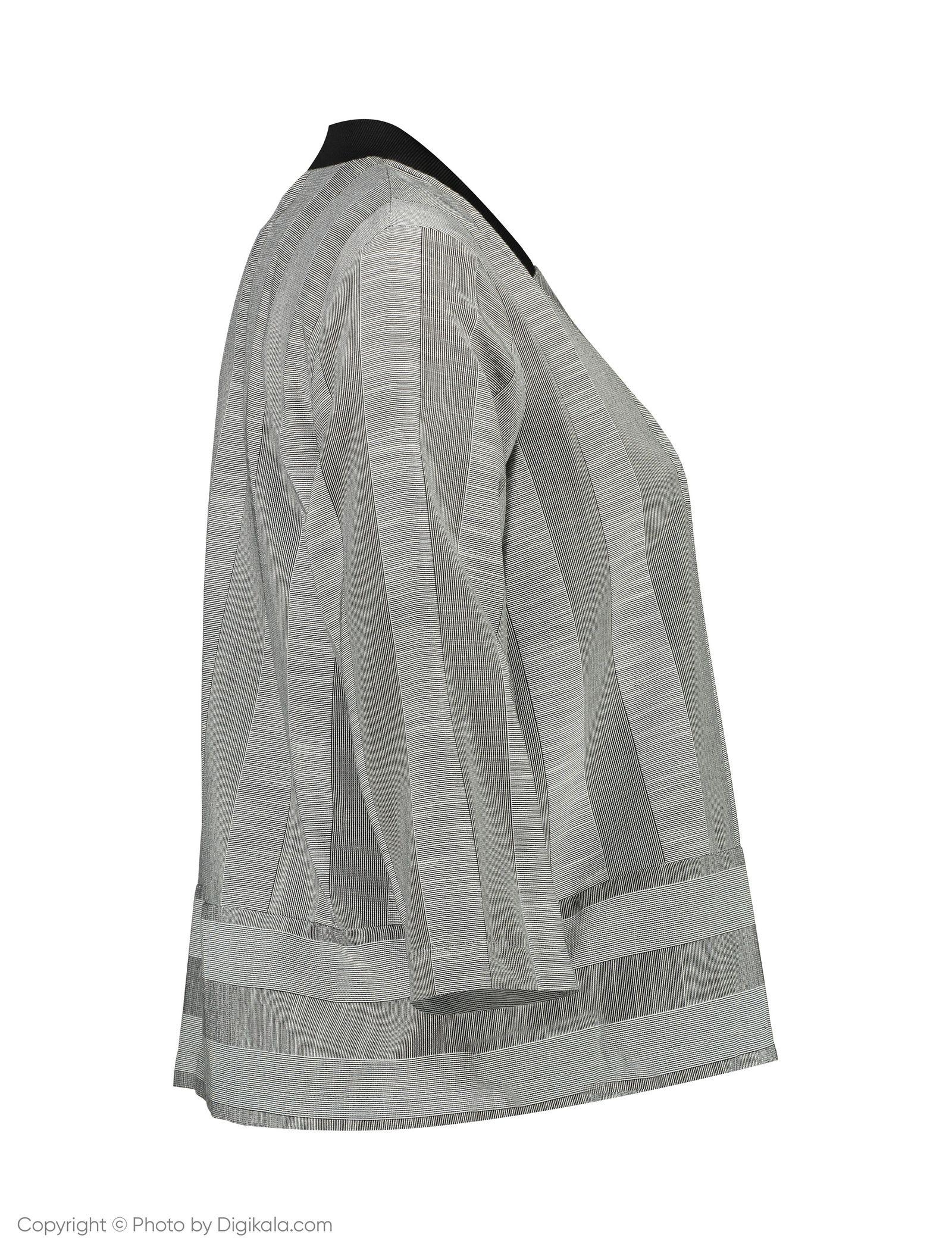 کت کوتاه زنانه - کوتون - طوسي - 2