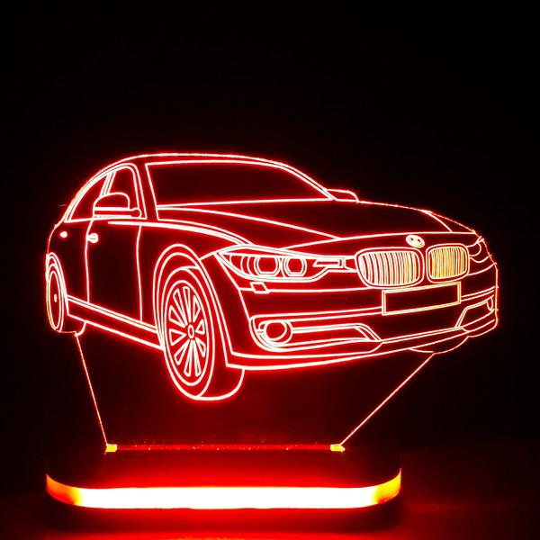 چراغ خواب طرح ماشین BMW کد 1148