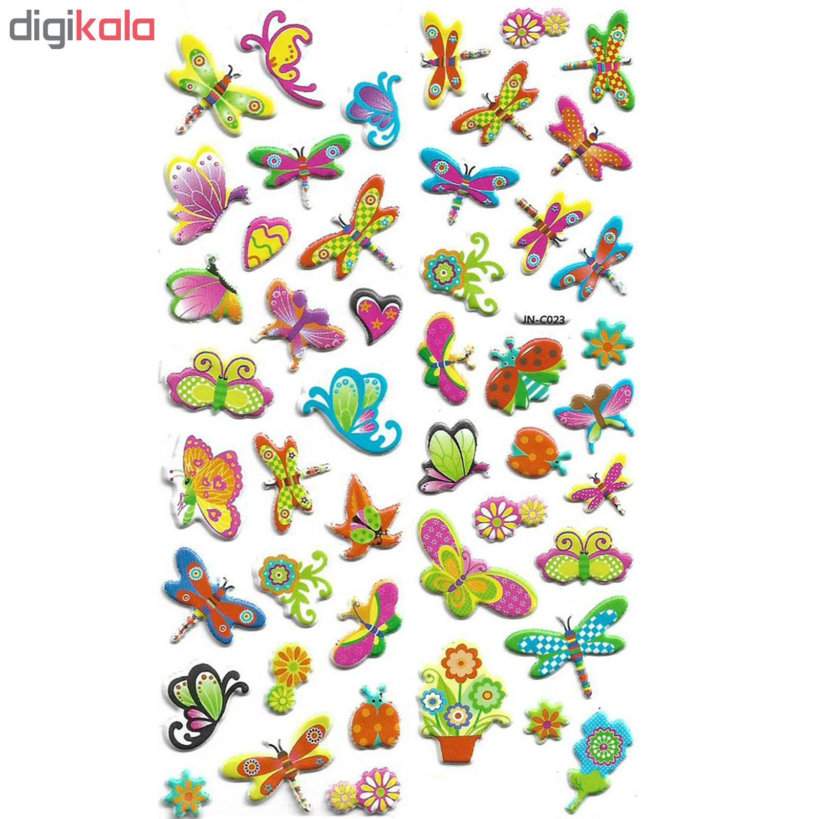 استیکر کودک طرح پروانه مدل papillon- j023 main 1 1