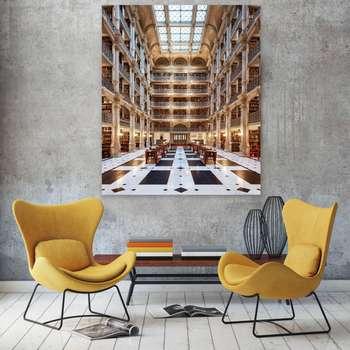 تابلو شاسی طرح کتابخانه پی بادی  زیباترین کتابخانه ی جهان کد 153