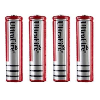 باتری قلمی قابل شارژ الترا فایر کد 18650 بسته 4 عددی