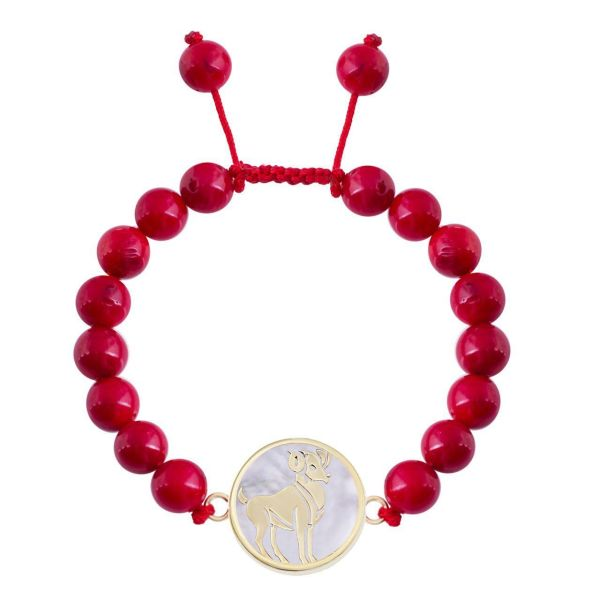 دستبند طلا 18 عیار مرجان مدل 0662