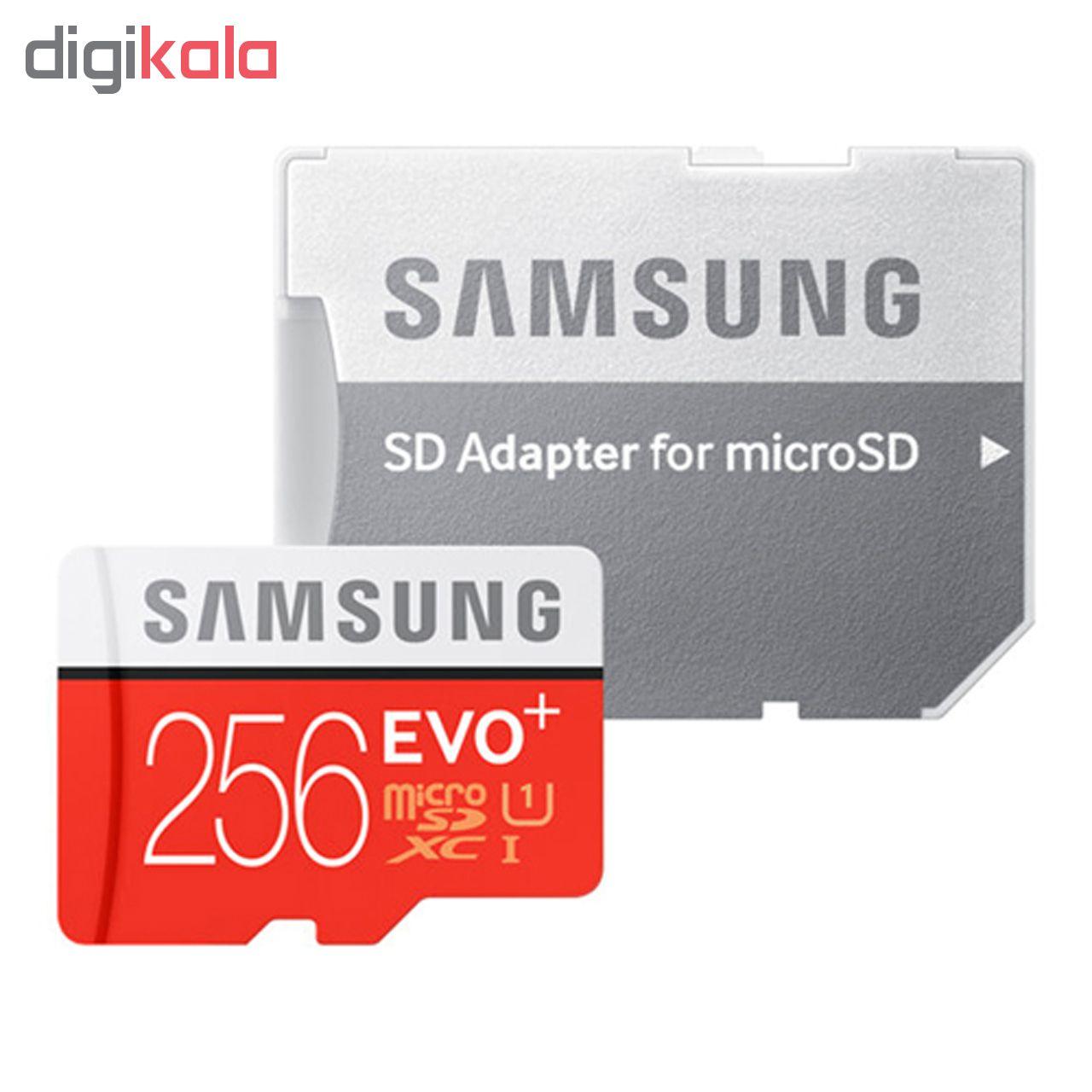 کارت حافظه microSDXC مدل Evo Plus کلاس 10 استاندارد UHS-I U1 سرعت 80MBps ظرفیت 256 گیگابایت به همر