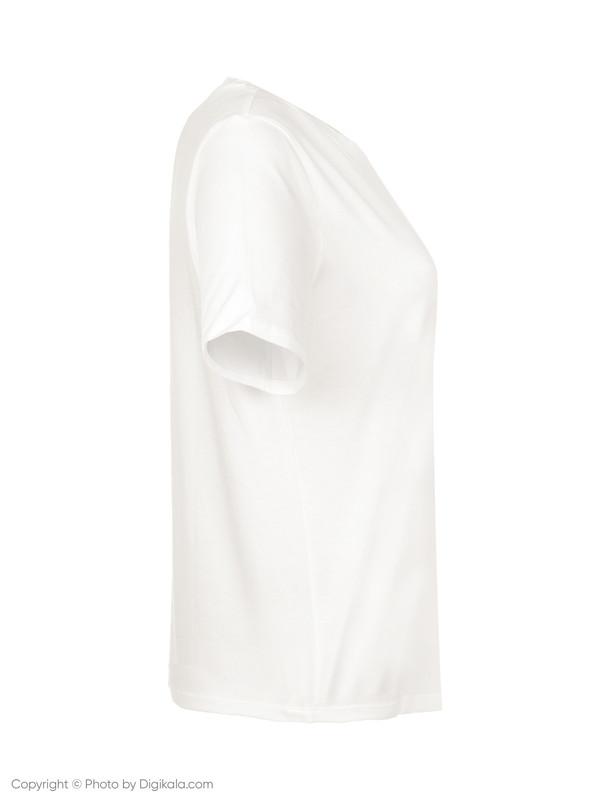 تی شرت نخی یقه گرد زنانه Kimma - مینیموم