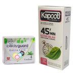 کاندوم کاپوت مدل 45Minutes بسته 12 عددی به همراه کاندوم بادیگارد مدل Extra Safe بسته 4 عددی thumb