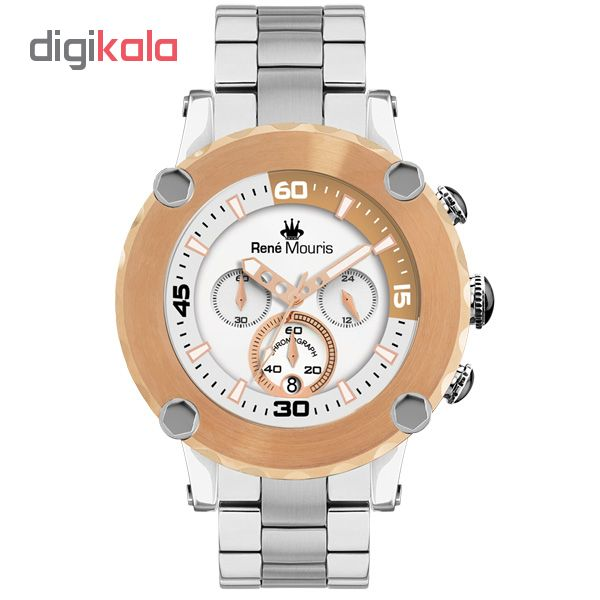 ساعت مچی عقربه ای مردانه رنه موریس مدل Santa Maria 90102 RM4