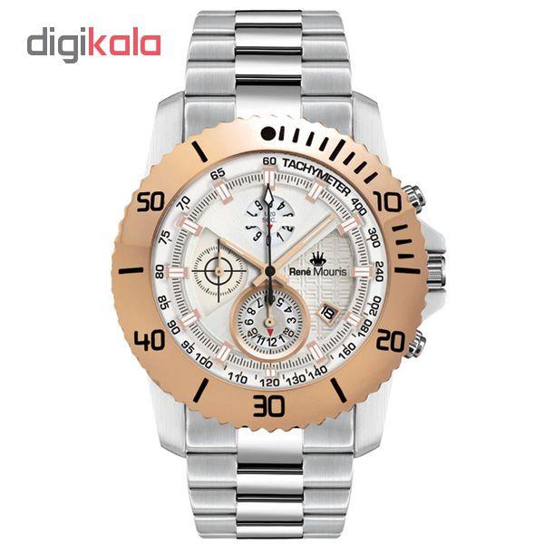 کد تخفیف                                      ساعت مچی عقربه ای مردانه رنه موریس مدل L.I.F.L 90114 RM4