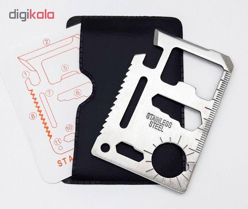 پک چاقو کارتی مدل سینکلر به همراه ابزار چند کاره مدل STE102