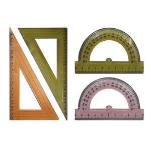 ست گونیا و نقاله مدل FLEX کد H6 مجموعه 4 عددی
