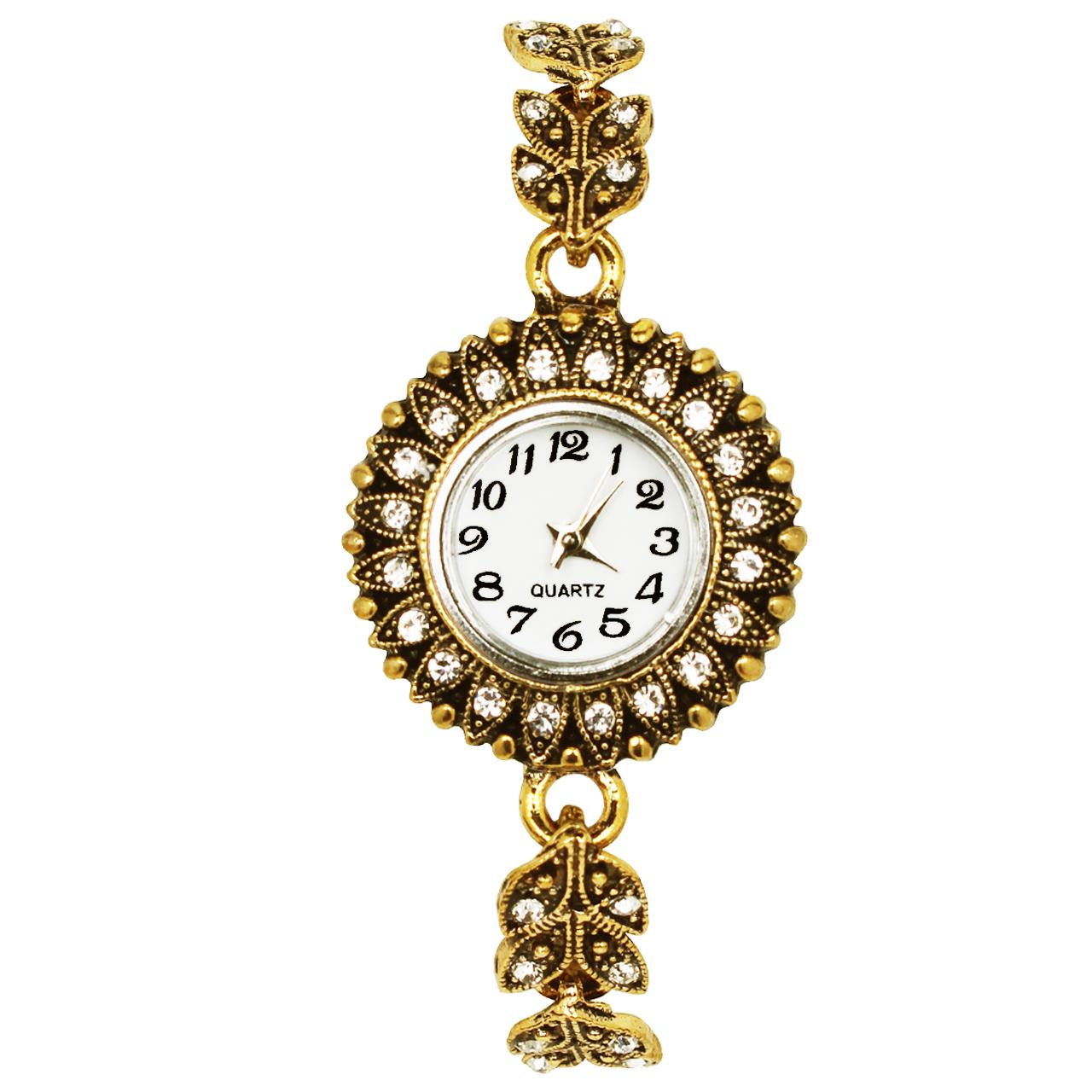 ساعت زنانه برند طرح گل کد 07