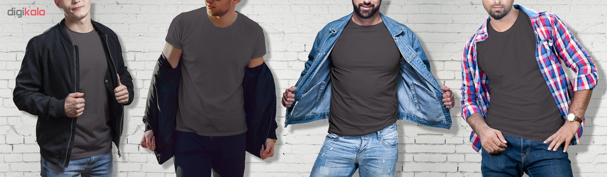تیشرت آستین کوتاه مردانه فروشگاه دی سی کد DC-1PGY رنگ نوک مدادی