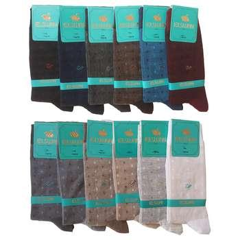 جوراب مردانه ال سون طرح ققنوس کد PH48 مجموعه 12 عددی
