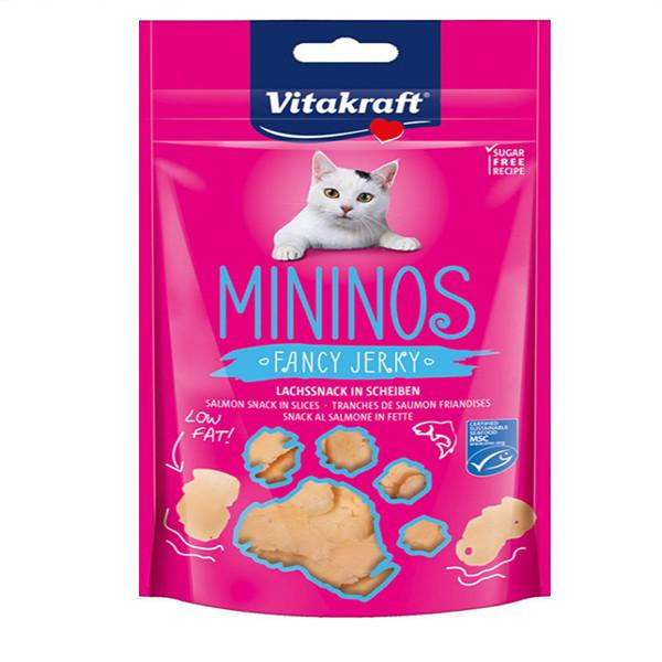 اسنک تشویقی گربه ویتاکرافت مدل Salmon snack in slices کد 34357 وزن 60 گرم