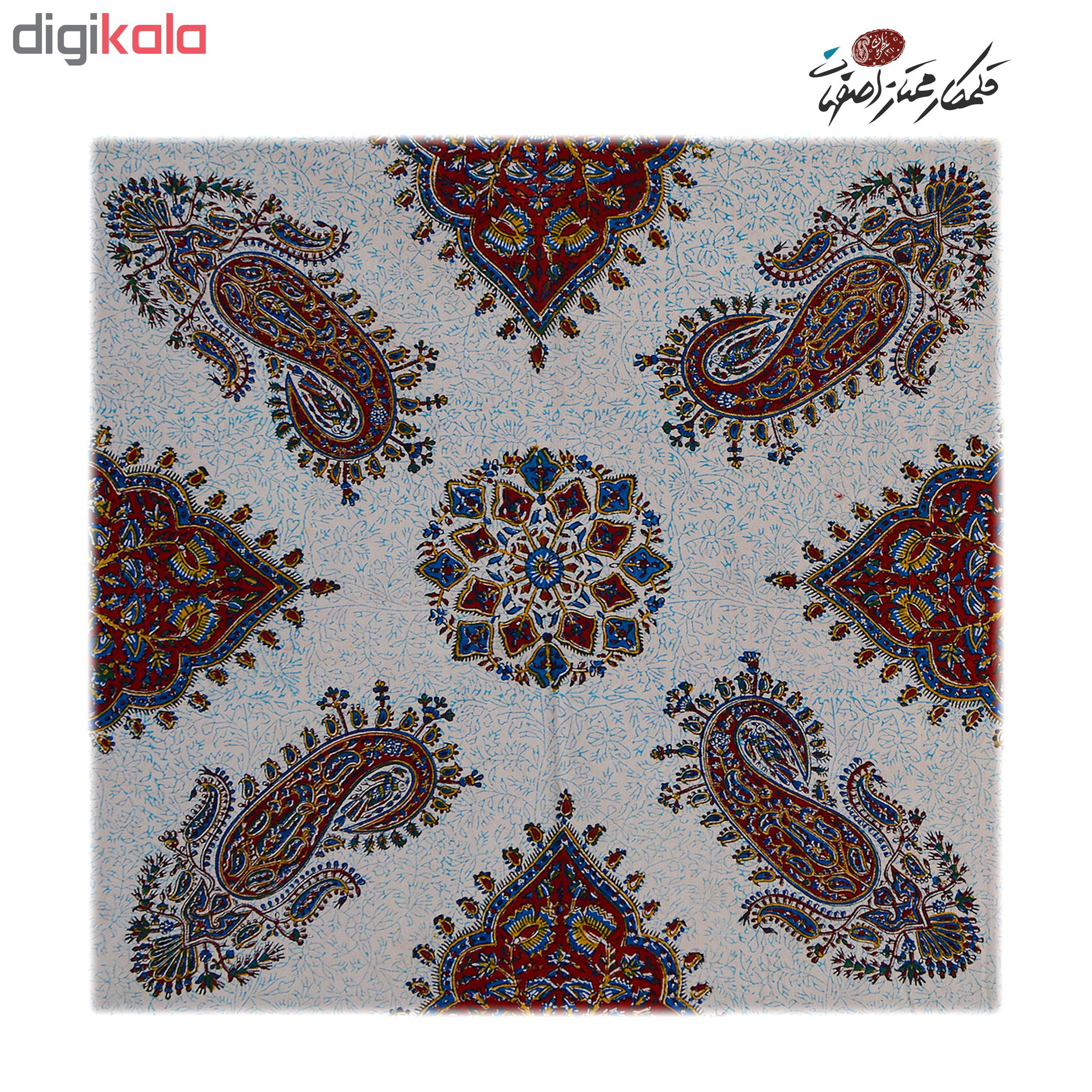 خرید                      رومیزی قلمكار ممتاز اصفهان اثر عطريان طرح پته مدل G204