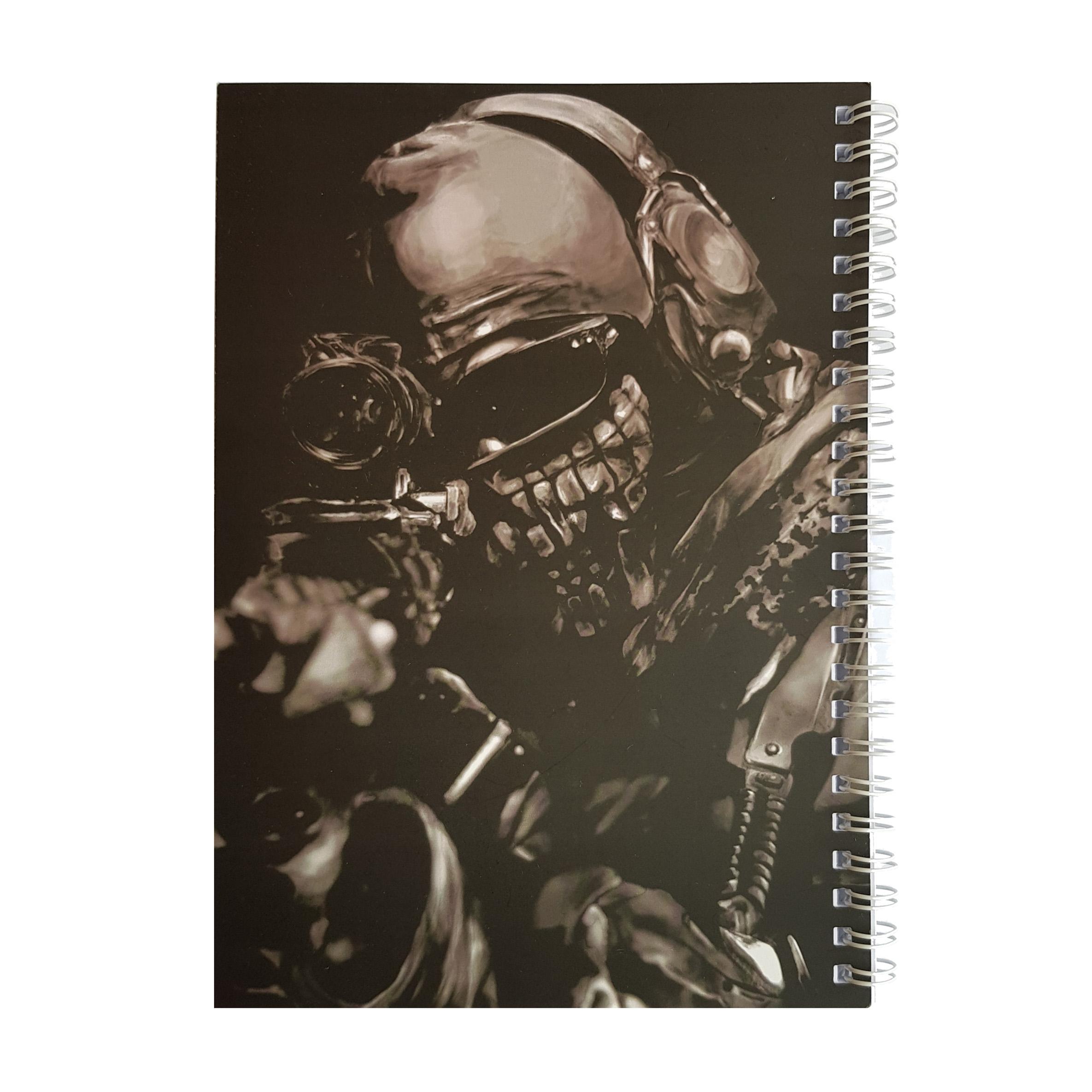 دفتر یادداشت طرح ghost مدل BSB-00610