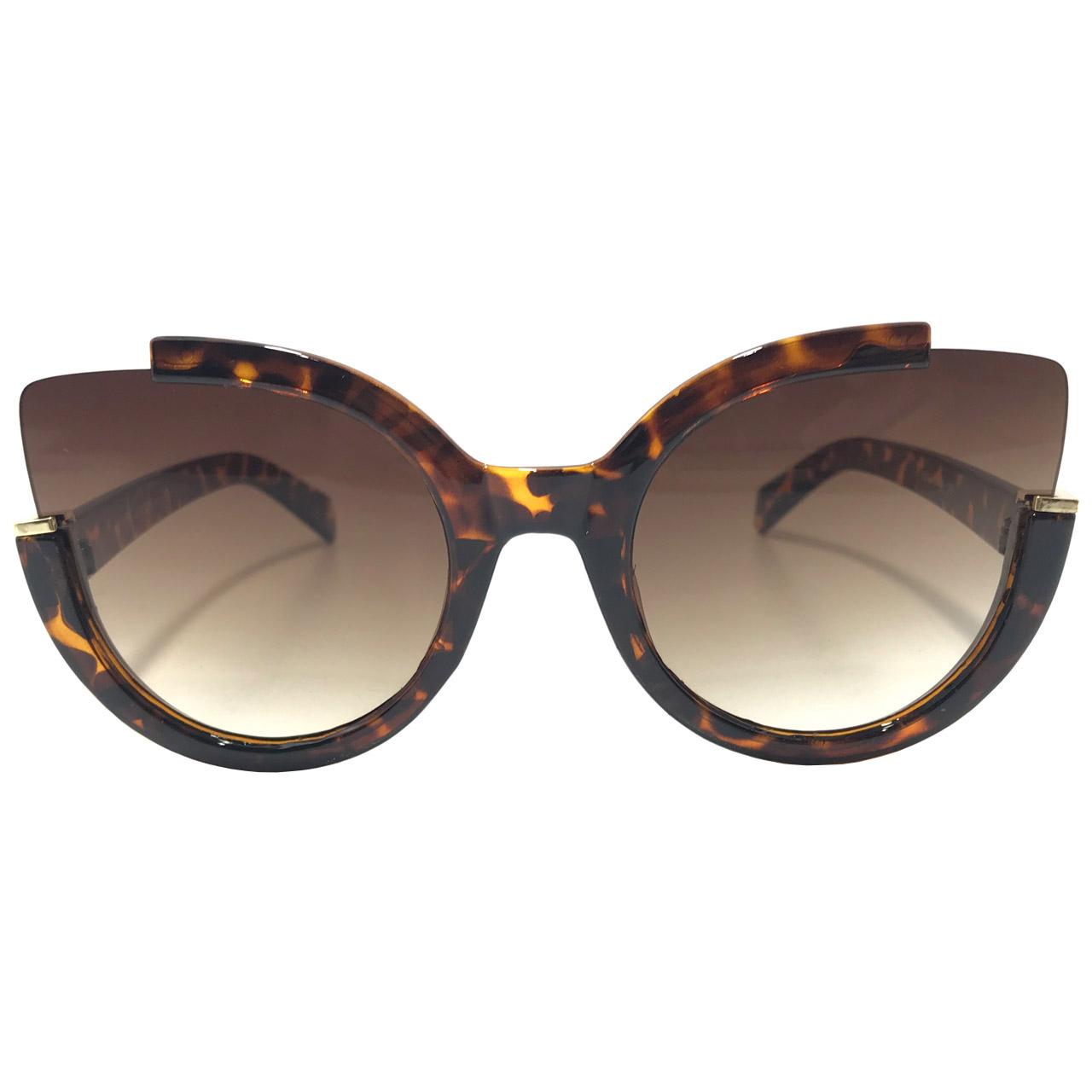 عکس عینک آفتابی زنانه مدل 1-8217 به همراه جا سوییچی چرم طبیعی طرح کفش هدیه