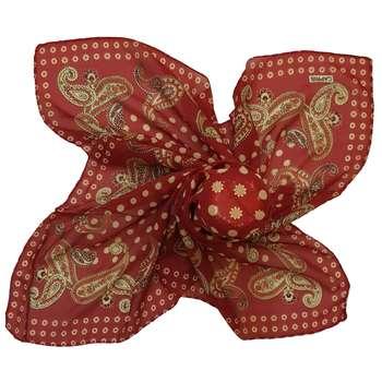 روسری کاپریس طرح بته جقه و دایره کد RM90167