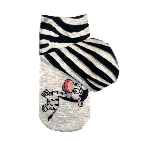 جوراب زنانه طرح گور خر مدل B20